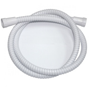 Swirl Shower Hose Flexible White 16mm x 1.5m