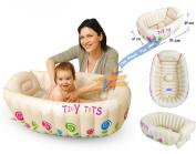 Tiny Tots Inflatable Baby Bath Tub Portable Travel Bathtub Sensor PHTHALATE FREE