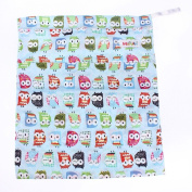 Baby Waterproof Zipper Bag Washable Reusable Baby Cloth Nappy Bag
