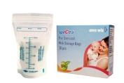 Spectra Pre-Sterilised Breast Milk Storage Bags 90 Bags / 3 Packs Of 30 Bags