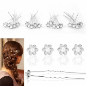 High Quality Crystal Diamante Hair Pins Pearl Flower Wedding Bridal Prom 20/40