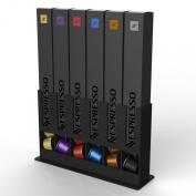 5049031 Tavola Swiss Cap Store Box Suitable for 60 Nespresso Capsules Plastic Black