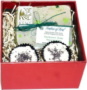 Fentons of Kent Handmade Peppermint Natural Gift Set contains a Peppermint & Tea Tree Natural Soap & 2 Peppermint Bath Melts
