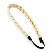 Homgaty Ladies Braided Synthetic Hair Plaited Plait Elastic Headband Hairband