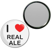 I Love Real Ale - 77mm Round Compact Mirror
