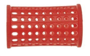 PLASTIC HAIR ROLLERS RED Pk10 x 40mm + FREE PINS