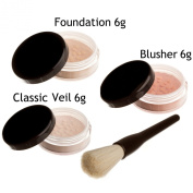 Mineralshack 4 Piece MEDIUM BEIGE foundation natural minerals makeup starter kit