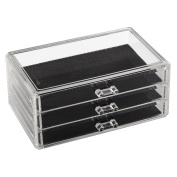 TRIXES Clear Acrylic Desk Cosmetic Lipstick Makeup Holder Brushes Organiser