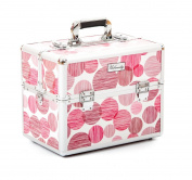 Urbanity Classic Red Spots Professional Aluminium Beauty Cosmetics Makeup Case