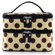 Chic Lady's Dot Case Makeup Cosmetic Tool Storage Toiletry