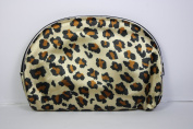 Five Leopard Print Make-Up Bags, Largest Bag 9 x 5.5 inches/ 22 x 14cm, Smallest Bag 3.5 x 3 inches/ 9 x 7cm, Easily Fit Inside One Another For Better Storage and Portability