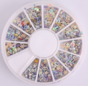 Five Season 3D Nail Art Wheels 1200pcs Colourful Star Shaped Fimo Slice Shaped DIY Decorations