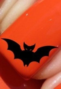 Halloween Bat - Nail Decals by YRNails