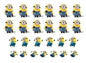 Easy to use nail art transfer stickers Dispicable Me Minions