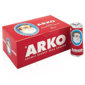 x12 PIECES (FULL BOX) ARKO SHAVING CREAM SOAP STICK 75 grammes ***FREE UK DELIVERY***