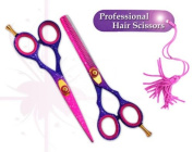 "professional hairdressing scissors hair shears barber salon scissors 14cm PINK SNOW japanese steel "" right hand """