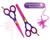 "professional hairdressing scissors hair shears barber salon scissors 14cm PINK SNOW japanese steel "" right hand """