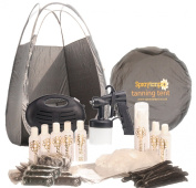 Rapidtan HVLP Airbrush Spray Tanning Kit with Tent, 7x Tan Solutions & More