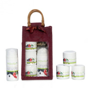 Anti-Ageing Organic, Acai & Goji Super Berry, Rejuvenating Skincare System - Exfoliating Microdermabrasion Facial Scrub, Rich Cream Facial Wash, Skin Boosting Facial Mask, Hydrating Moisturiser /Serum -Treatment Set & Home Kit - Perfect Skin Care Gift ..