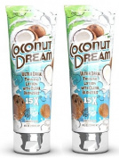 2 X FIESTA SUN COCONUT DREAM 236ML SUNBED LOTION TANNING CREAM