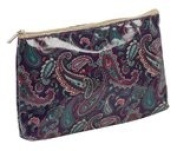 Purple - Pink - Green Paisely Design Wipeable Toiletry Bag Cosmetic Purse