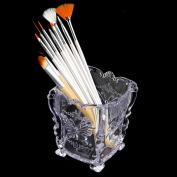 Makeup Storage Box Case Holder Brush Pen Organiser Decorative Acrylic Clear