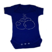 Rhinestone Boxing Gloves Baby Grow With Free Socks Traveller Romany Bling