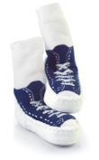 Mocc Ons By Sock Ons NAVY Sneaker size 18-24 Months - NEW DESIGN!