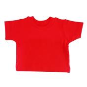 BabywearUK 2-3 YR T-SHIRT - Red - British Made