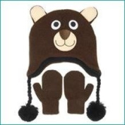 Nuzzles - Brown Bear Hat and Mittens Set