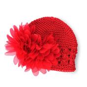Fashion Sweet Cute Crochet Flower Beanie Hat Cap Newborn Baby Toddlers Girls