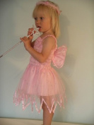 SALE PRICE !CLASSIC PINK BABY FAIRY DRESS 12-18MTHS BY FRILLY LILY