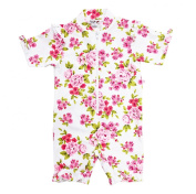 Plum Collections 6/12m Australian Sun Protection UPF50+ Baby Girl All In One Sunsuit S L/S - Floral