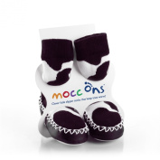 Mocc Ons By Sock Ons Colour Cow Print : Size 2-3 Years - NEW SIZE!!