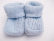 BNWT Baby boys or girls unisex knitted 100% Acrylic booties 0-3 months