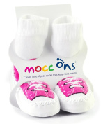 Mocc Ons By Sock Ons PINK Sneaker size 6-12 Months - NEW DESIGN!