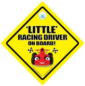 Little Racing Driver Sign, Little Racing Driver On Board Car Sign, Little Racing Driver, Baby On Board Sign, Novelty Car Sign, Baby on Board, Car Sign, Decal, Bumper Sticker, Car Signs