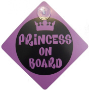 Princess on Board Child Safety includes 1 suction cup for your Car Vechicle Signs