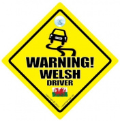 Warning Welsh Driver Car Sign, Car Sign, Baby on board, Bad Driver, Novelty Car Sign, Bumper Sticker, Decal, Welsh Driver, Taffy, Dragon, Boyo, Wales Car Sign, Cymru, Country Sign