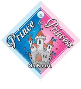 Prince & Princess On Board Car Sign, Castle, Prince On Board, Princess On Board, Prince Boy, Princess Girl, Car Sign, Baby On Board Sign, Baby on board, Novelty Car Sign, Baby Car Sign