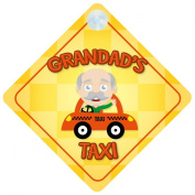 Grandad's Taxi Car Sign Funny Novelty Gift / Present Baby on Board Style Sign