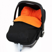 iSafe Buddy Jet Carseat Footmuff - Black/Orange