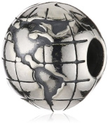 Pandora Sterling Silver World Map Globe Charm - 791182 - Moments Collection