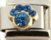 Blue september paw Italian charm fits classic nomination bracelet