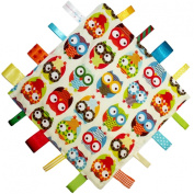 New handmade security tag blanket comforter by Dotty Fish. Made in England. Owl Design.