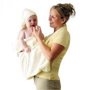 Clevamama Clevamama Extra Large Hooded Baby Towel and Apron Wrap - Cream