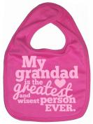 Dirty Fingers, My Grandad is the Greatest, Boy Girl Feeding Bib, Bubblegum Pink