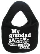 Dirty Fingers, My Grandad is the Greatest, Boy Girl Feeding Bib, Black