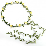 Boho Floral Head Garland Flower Headband Wedding Festival Four Colours