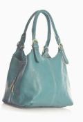 Big Handbag Shop Womens Medium Size Plain Shoulder Bag with a Long Strap
